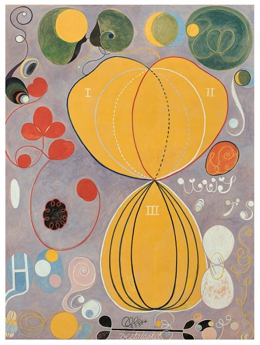 The Ten Biggest, No 7 by Hilma af Klint, 1907, oil and tempera on paper, 328 x 240 cm | Tate