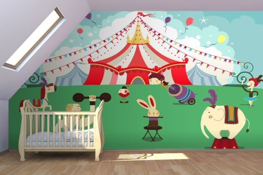 Cartoon circus wall mural cartoon bold and the o 39 jays for Circus wall mural