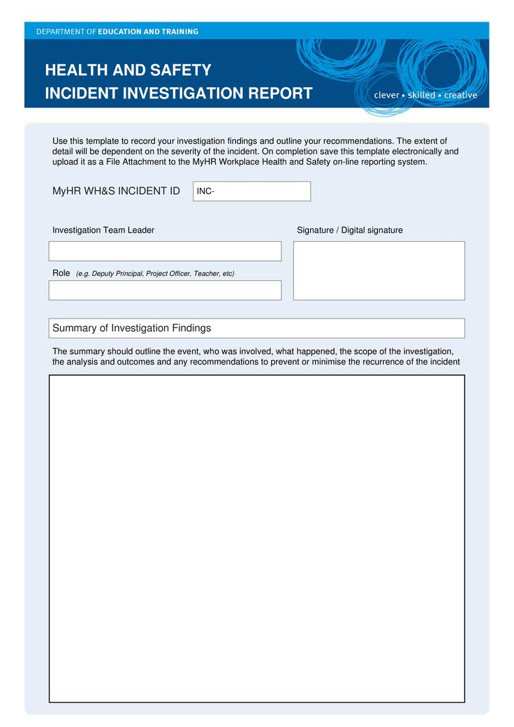 HSE Health Safety Incident Investigation Report - Health Safety - investigation report template
