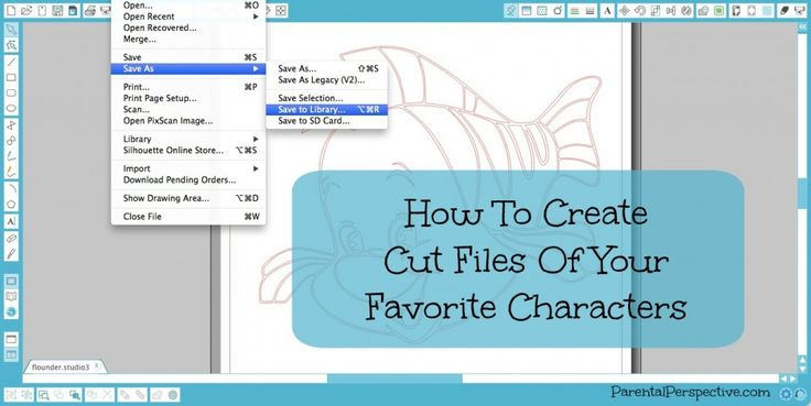 A tutorial for turning coloring pages of your favorite characters into Silhouette cut files