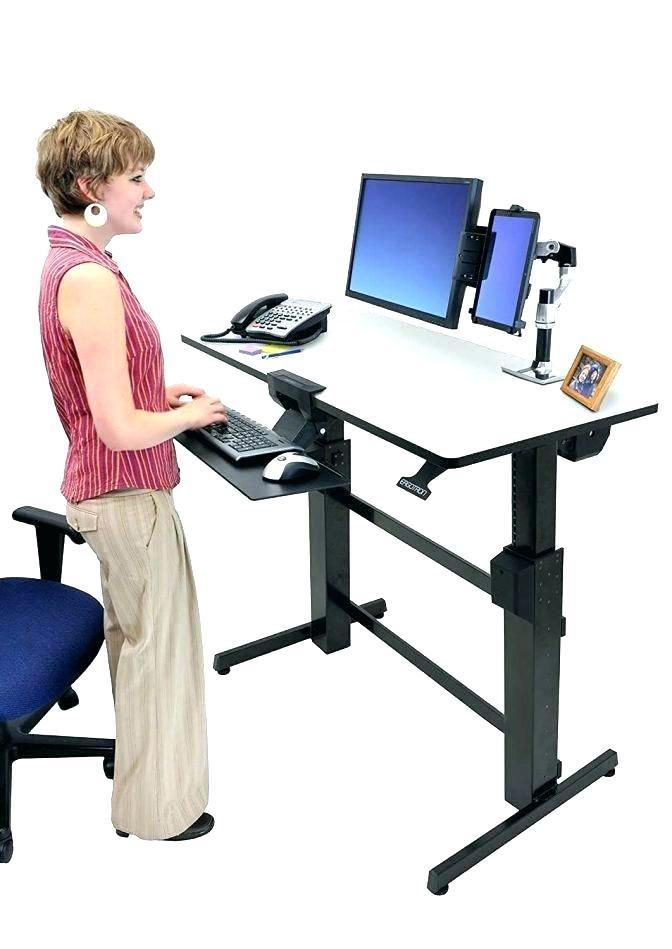 Computer Desk Office Works Student Stand Up Office Desk Elevated
