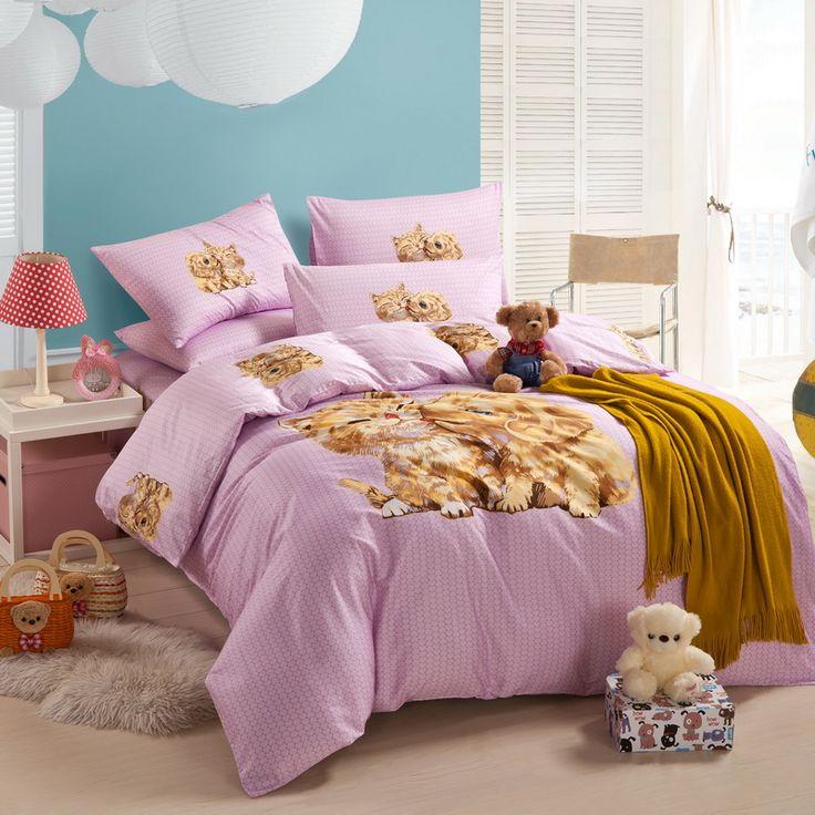 Puppy Kiss Kitty Pink Cartoon Bedding Kids Bedding Girls Bedding Teen  Bedding · Teen BeddingScandinavian DesignComforterPuppysKittyCartoon Part 57