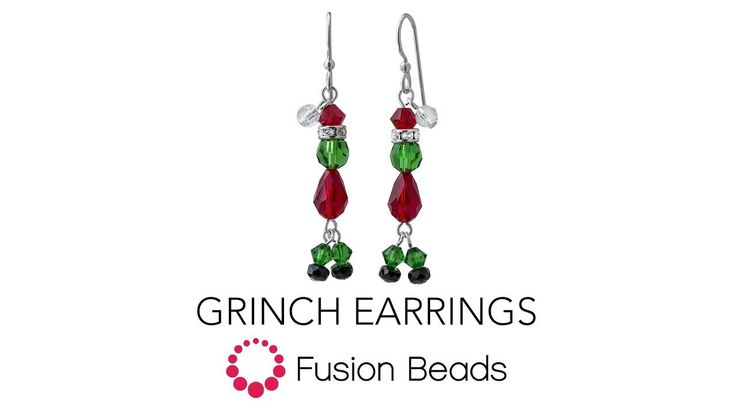 Learn how to make the Grinch Earrings by Fusion Beads