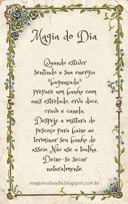 Magia no Dia a Dia: Magia do Dia: banho harmonizador http://magianodiaadia.blogspot.com.br/