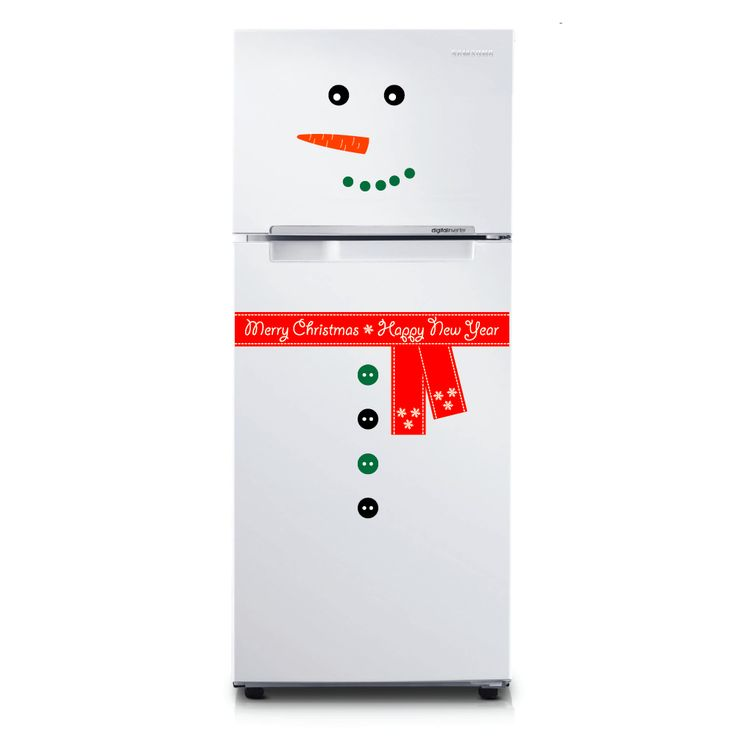 "Christmas sticker ""Snowman"" for decorating your fridge!"