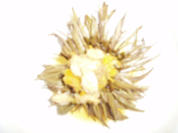 Esta fotografia nos la envia Marieta. Compró una flor de té blanco BIO y se sorprendió al verla finalmente.