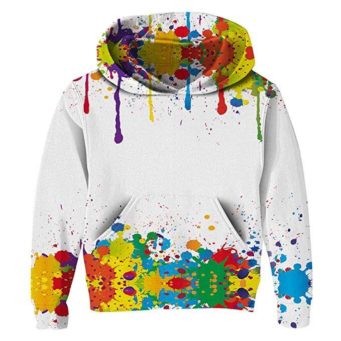 Unisex Boy Girls 3D Print Hoodies Long Sleeve Sweatshirt Jumper Pullover Outwear