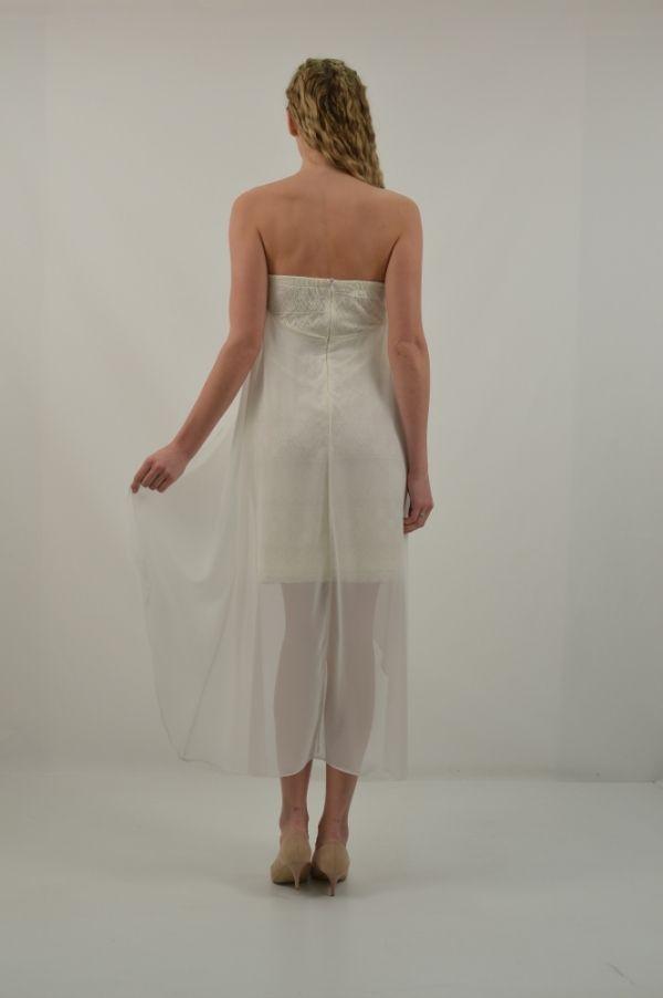 Φόρεμα κοντό στράπλες