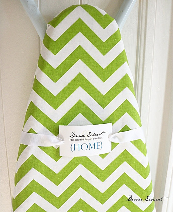 Ironing Board Cover in Lime Green and White by DanaEckertHOME, $32.00