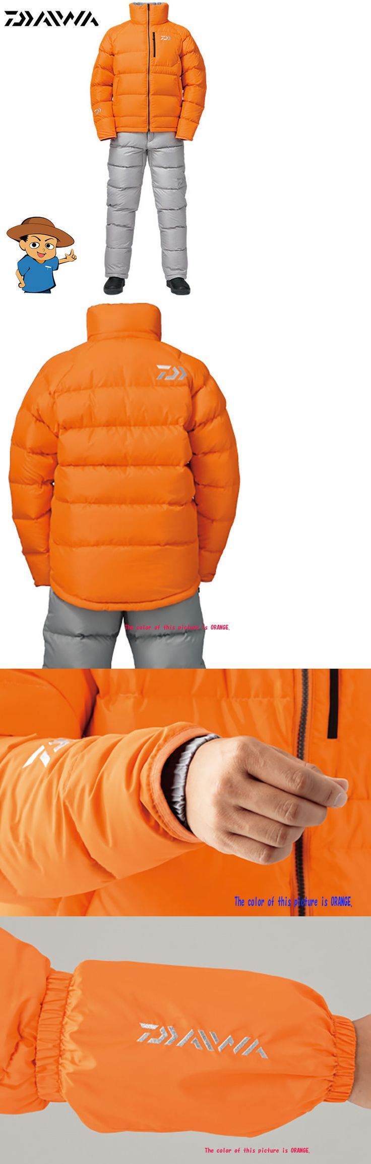 Jacket and Pants Sets 179981: Daiwa Di-5305 Orange Fishing Outdoor Winter Dawn Jacket Snowsuit -> BUY IT NOW ONLY: $690 on eBay!
