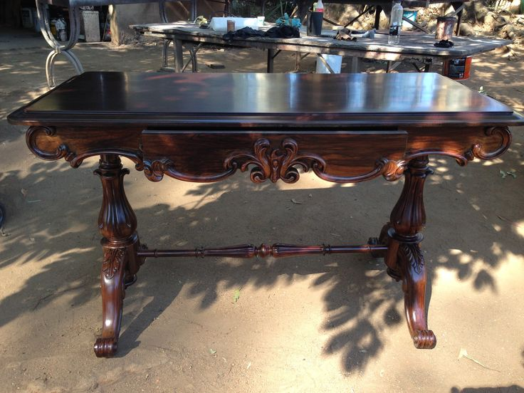 One of our #Victorian #Tables after refurbishment and restoration. #FurnitureRestoration