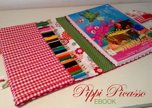Malbuch und Stifte Mappe