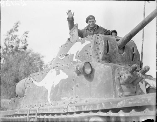 Captured Italian tank M13/40 in service with the 6th Australian division.