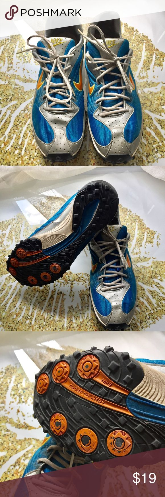 Nike Cross Country Running Shoes Great used condition x-country training shoes. These are a steal for the professional and novice runner alike. Size 10 but run small large 9.5s will work best. Nike Shoes Sneakers