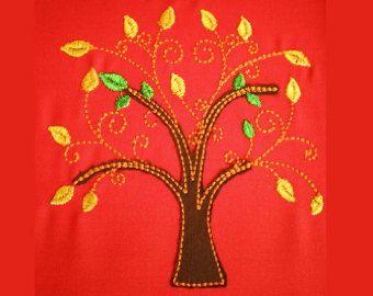 Hayat 4 makine nakış tasarımları Tree Of - hoop 4x4, 5x7 ve 6x10 için ANINDA İNDİR birden boyutları