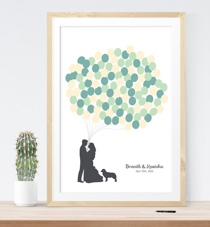 LOVE this alternative to a guest book... and the silhouettes are made to look like you!