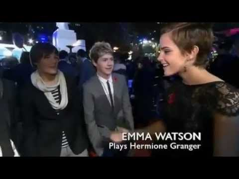 One Direction meet Daniel Radcliffe and Emma Watson - Deathly Hallows' Premiere -
