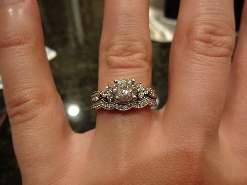 14k White Gold Shane Company Engagement Wedding Ring Set Size 5 5 | EBay