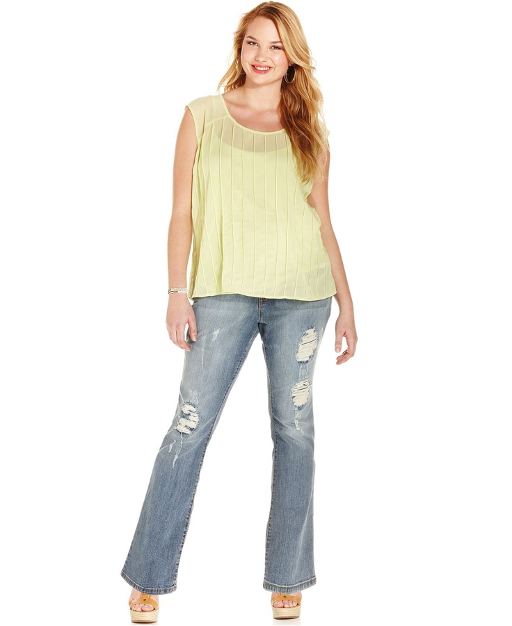 Want those jeans! Jessica Simpson Plus Size Jeans I like the top | Pretty Clothes | Pinterest ...
