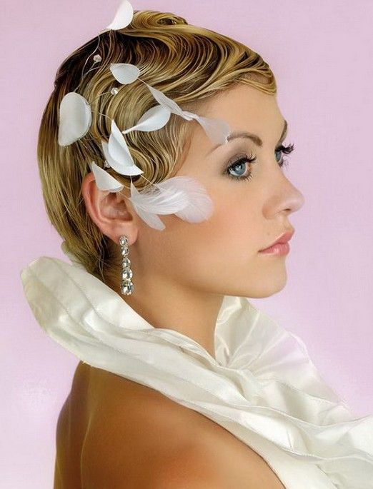 Elegant Short Bridal Hairstyles
