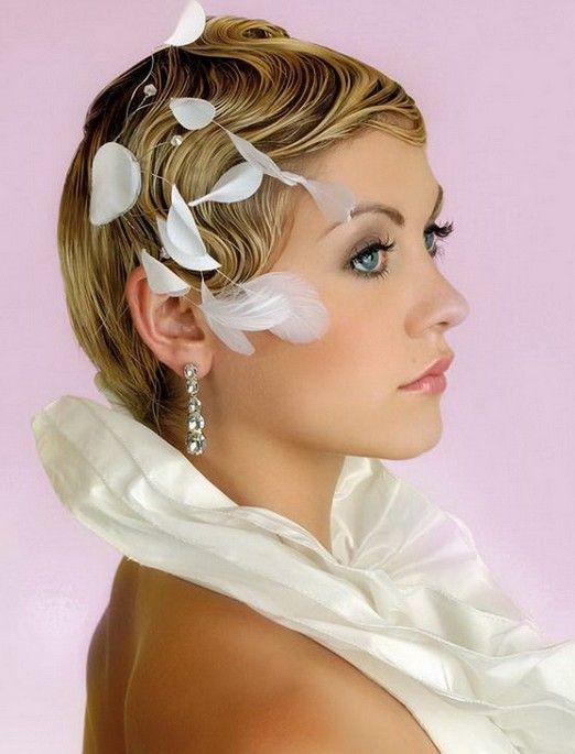 Elegant Short Bridal Hairstyles