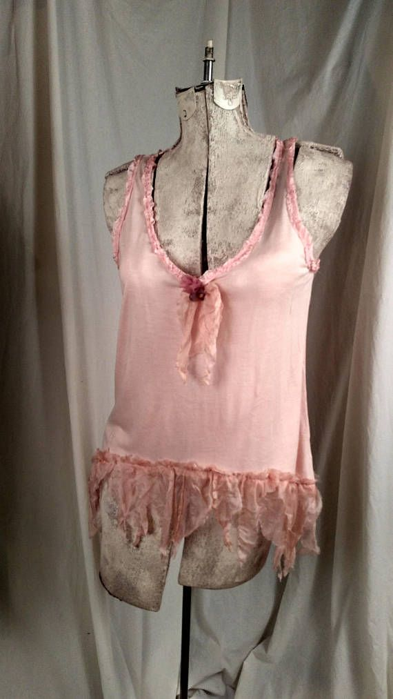 Bit of Blush Flowing Tank Flapper Girl Look Soft Pink with
