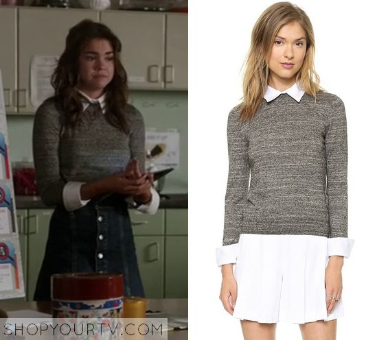 The Fosters: Season 3 Episode 7 Callie's Grey Collared Sweater