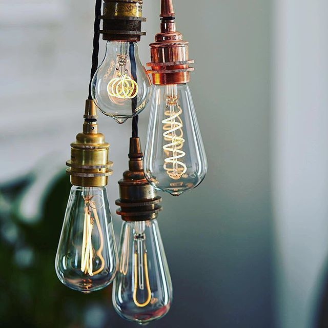 Feeling the chill ?  .... Introduce some ambient warmth into your home with one of our fabulous Vintage Cluster pendants ... A totally bespoke fitting with a choice of outlets (shown here with 4) selection of lampholders choice of cable colour and fabulous range of LED decorative filament bulbs.  For more information and to shop now check out our website (link in bio) and search for 'Vintage Cluster'....  #lumisonlighting #brightideas #industriallighting #bespokelighting  via @well_lit_led