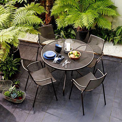 Buy John Lewis Ala Mesh 4 Seater Table Chairs Dining Set Online At Johnlewis