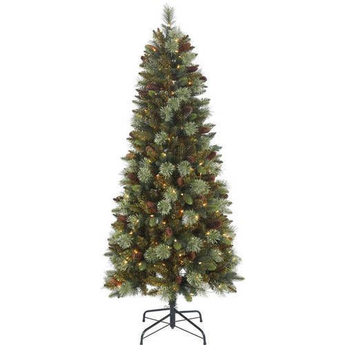 Artificial Christmas Tree 5' With 150 Clear Lights Pine Green Xmas Decor Indoor #ArtificialChristmasTree