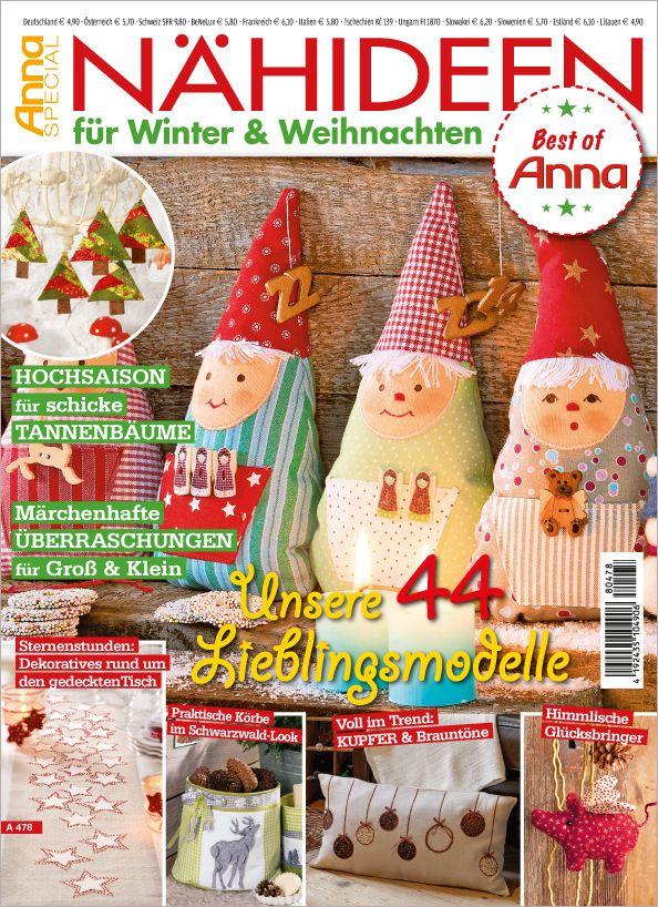 Anna Special A 478 - Nähideen für Winter & Weihnachten Diese ...