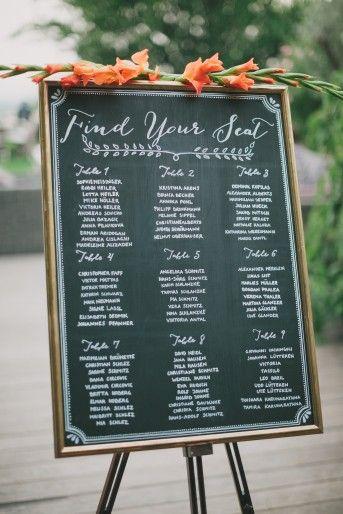 Hochzeit Sitzplan | Elegant-Rustikale Hochzeit im Weingut am Reisenberg | Oh Lovely Life