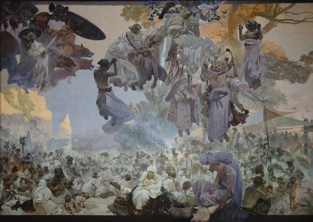 Alphonse Mucha: 'The Slav Epic' cycle No.2: The Celebration of Svantovít (1912)