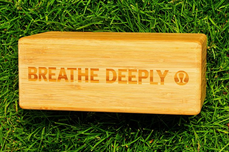 Breathe Deeply ~ Lululemon Bamboo Yoga Block ~ Image by JM