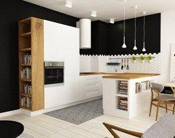 pianohouse powisle warszawa mieszkanie 73 m2 - Średnia kuchnia, styl nowoczesny - zdjęcie od Grafika i Projekt architektura wnętrz