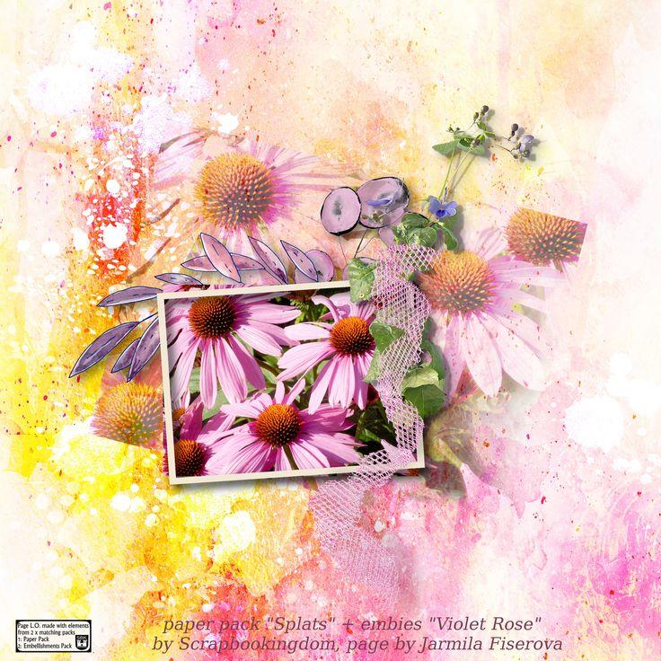 "Paper Pack  ""Splats"" by Scrapbookingdom, https://www.etsy.com/au/listing/544753258/splats-digital-paper-pack-personal-use?ref=shop_home_active_1, embies ""Violet Rose"","