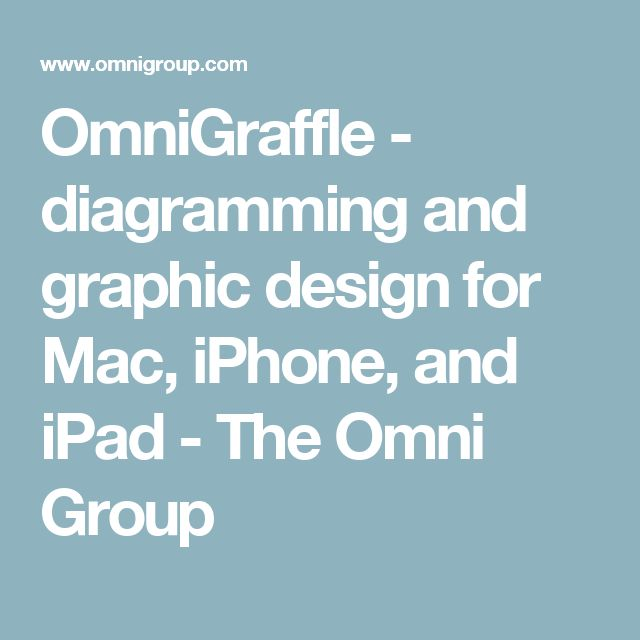OmniGraffle - diagramming and graphic design for Mac, iPhone, and iPad - The Omni Group