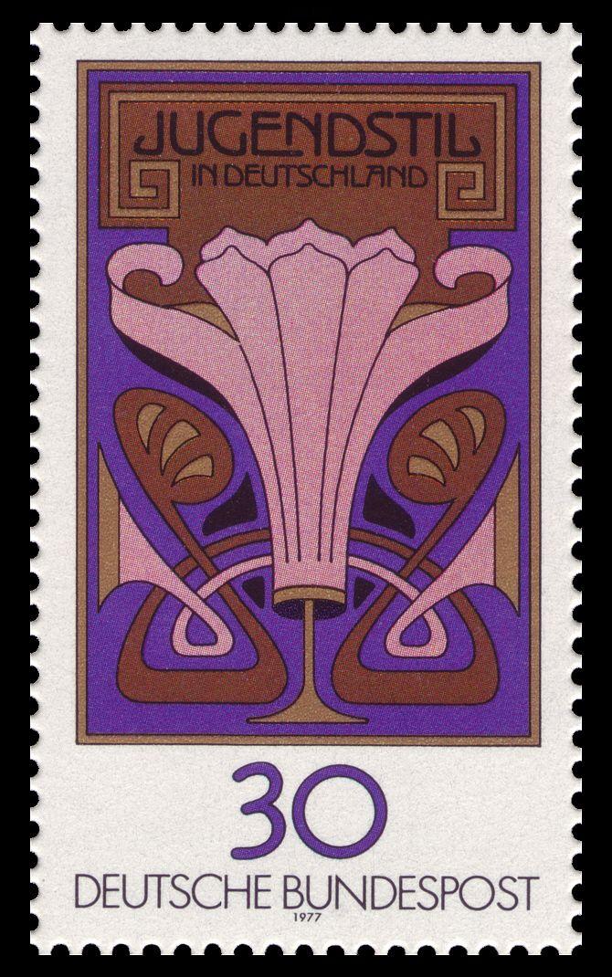 Deutsche Bundespost stamp Jugendstil 1977