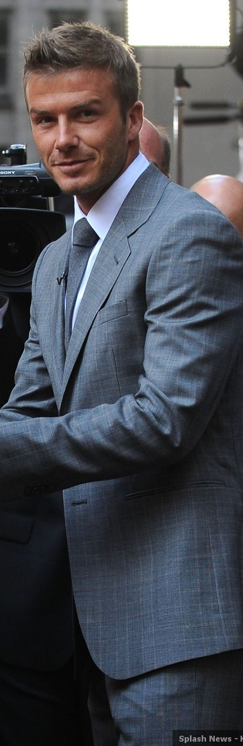 David Beckham- More suits, style and fashion for men @ http://www.zeusfactor.com