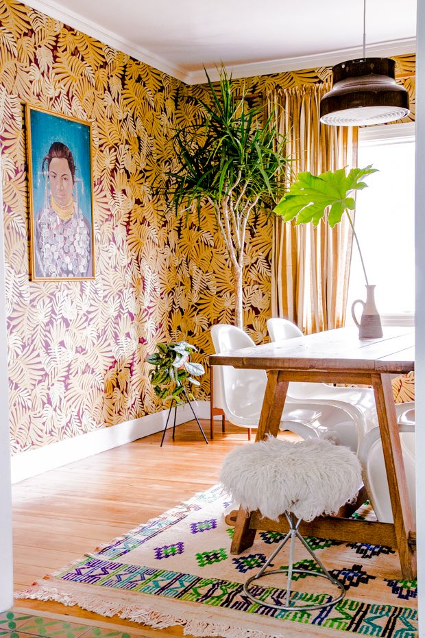 Get The Look! Justina Blakeney's Jungalow Style Dining Room.
