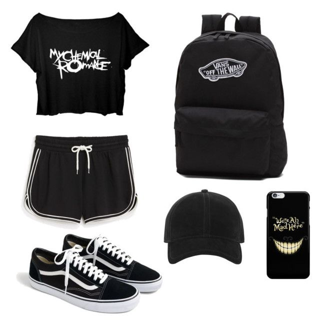 """Black"" by saez-javita on Polyvore featuring moda, Monki, Vans, J.Crew y rag & bone"