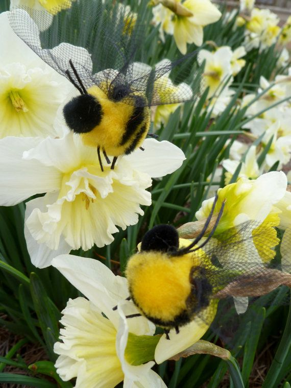 Bees Please..Buzzing for You...Honey Bee..Hand made Pompom Bees...Bee Baby Shower... Bee Diaper Cake...Cake Topper...Busy as a Bee :)