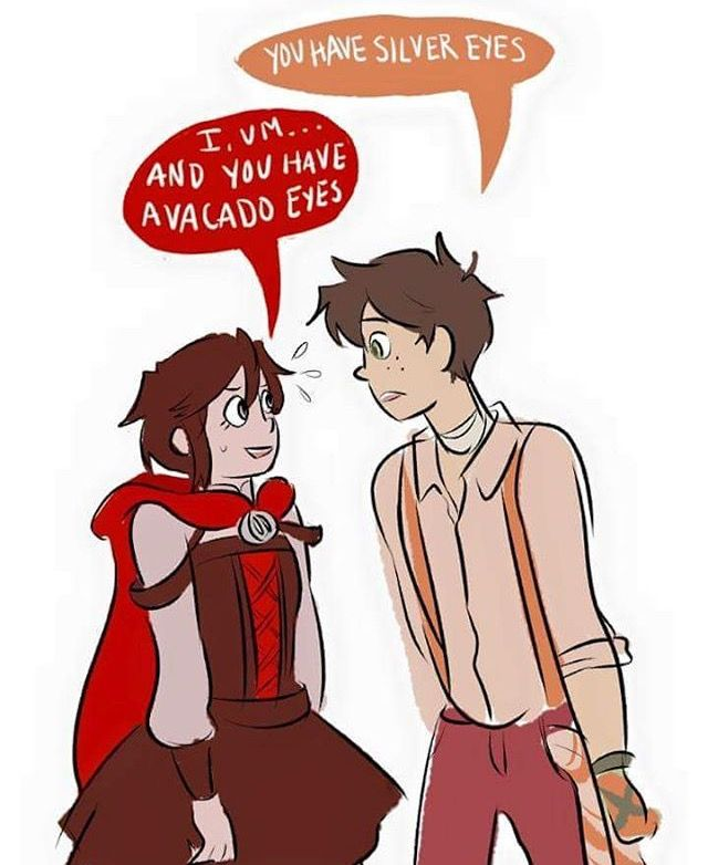 Ruby and Oscar (that allusion to Ozpin though) I think this would be a cute ship... Just me ok