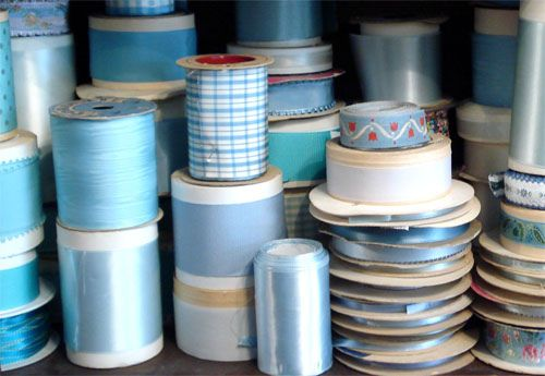 Vintage blue ribbon