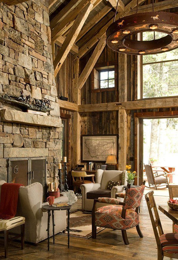 1000 Images About Rustic Living Rooms Dens On Pinterest