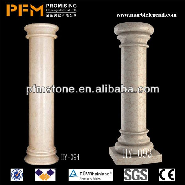 Decorative Roman Style Hand Carved Marble Pillars Columns For Building