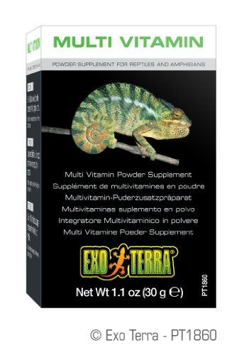 Exo Terra multi vitamin powder supplement is formulated to meet the nutritional needs of reptiles and amphibians in conjunction with their daily diet. It contains precise levels of vitamins amino aci...