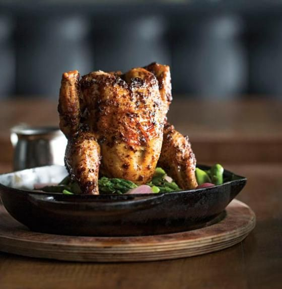 San Francisco's Park Tavern restaurant, has released their recipe for 'Poulet Noir' this is NOT your ordinary beer-can chicken...Long weekend menu now complete. June 28, 2013.