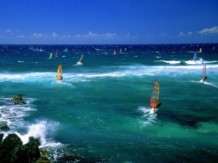 Windsurfers - Maui - Hawaii, USA