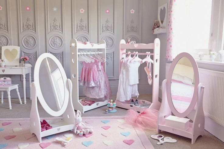 dressing tables, dressing up, fancy dress, kid's dressing up. clothes storage, children's mirrors, kid's clothes rails, pink bedroom ideas, children's bedroom